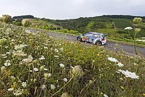 WRC Leg report Germany WRC: Mikkelsen leads Neuville, Latvala suffers breakdown