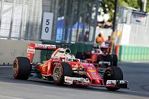 Formula 1 Race report Sebastian Vettel on the podium in Baku