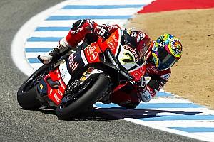 World Superbike Race report Tough Race 1 for the Aruba.it Racing - Ducati team in Laguna Seca