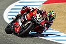 World Superbike Tough Race 1 for the Aruba.it Racing - Ducati team in Laguna Seca