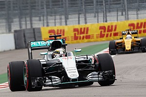 Hamilton handed reprimand, one away from a grid penalty