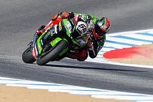 World Superbike Race report Laguna Seca WSBK: Sykes leads Ducatis in red-flagged race, Rea retires