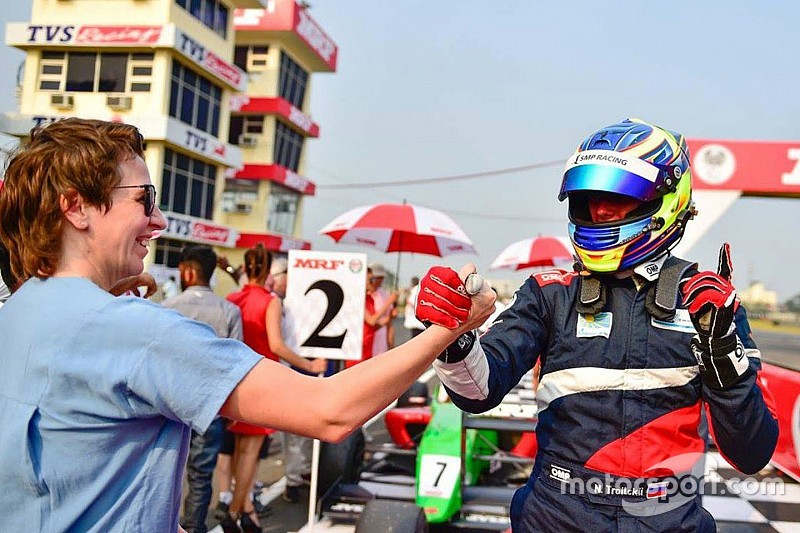 Troitskiy chuffed with third-place in MRF Challenge