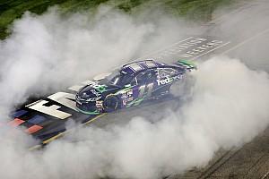 NASCAR Sprint Cup Race report Hamlin wins rough and wild Richmond race