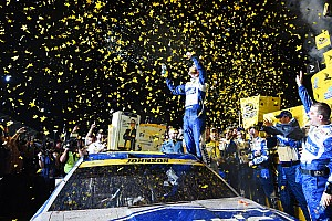 NASCAR Sprint Cup Отчет о гонке Джонсон стал чемпионом NASCAR, выиграв гонку с последнего места