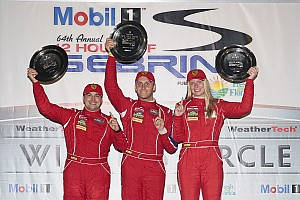 IMSA Race report Ferrari commemorates first Sebring victory with first win for 488 GT3