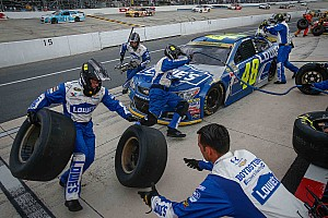 NASCAR Sprint Cup Breaking news Pit road error costs Johnson another potential win