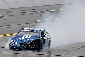 NASCAR Sprint Cup Breaking news Dale Earnhardt Jr. crashes out early in the running at Talladega