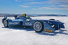 Formula E Di Grassi drives Formula E car on Arctic ice cap