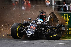 Formula 1 Race report McLaren Honda: Race and accident report from the Australian GP