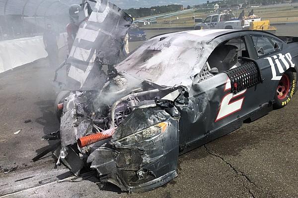 NASCAR Sprint Cup Keselowski walks away from big testing shunt at Watkins Glen