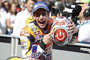 MotoGP Race report Aragon MotoGP: Marquez defeats Yamahas despite almost falling