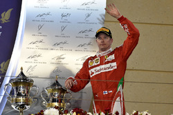 Podium: second place Kimi Raikkonen, Ferrari