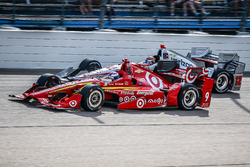 Scott Dixon, Chip Ganassi Racing Chevrolet, Will Power, Team Penske Chevrolet