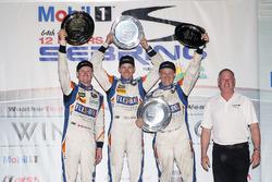 PC podium: winners Jon Bennett, Colin Braun, Mark Wilkins, CORE autosport