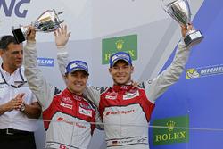 Third place #7 Audi Sport Team Joest Audi R18: Marcel Fässler, Andre Lotterer