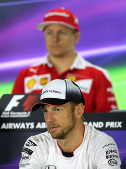 Jenson Button, McLaren during the press conference