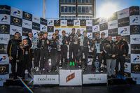 Lamborghini Super Trofeo Photos - Podium: race winner Dennis Lind, second place, Vito Postiglione, third place Harald Schlegelmilch