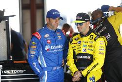 Elliott Sadler, JR Motorsports Chevrolet, Paul Menard, Richard Childress Racing Chevrolet