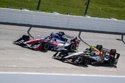 Jack Hawksworth, A.J. Foyt Enterprises Honda, Sébastien Bourdais, KV Racing Technology Chevrolet