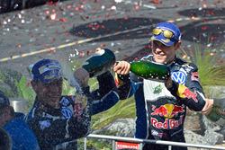 Podium: Jari-Matti Latvala, Volkswagen Motorsport, second place Julien Ingrassia, Volkswagen Motorsport