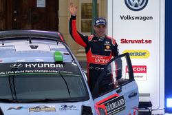 Second place Hayden Paddon, Hyundai Motorsport