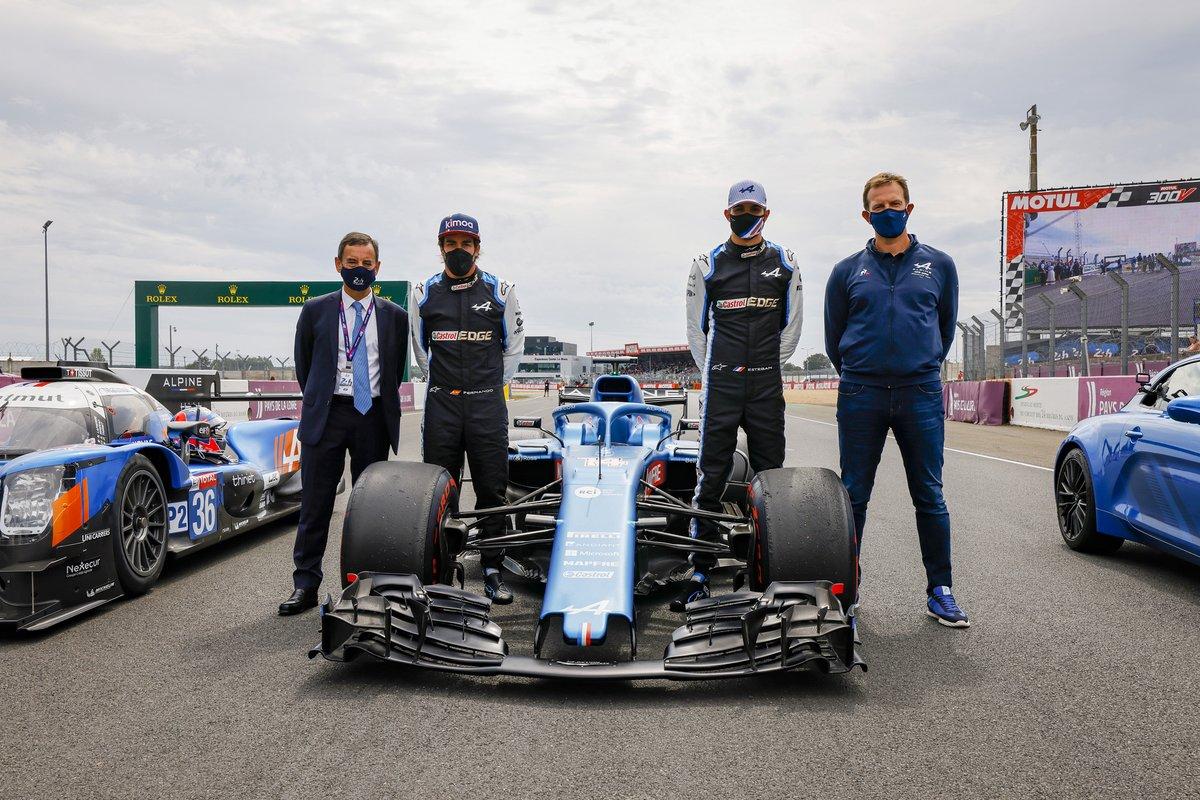 Fernando Alonso, Louis Rossi, Esteban Ocon, Alpine Pierre Fillon, ACO President