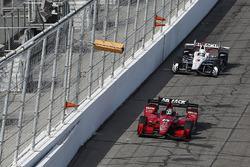 Graham Rahal, Rahal Letterman Lanigan Racing Honda, Josef Newgarden, Team Penske Chevrolet