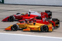 Ryan Hunter-Reay, Andretti Autosport Honda, Carlos Munoz, Andretti Autosport Honda