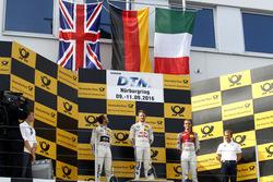 Podium: Race winner Marco Wittmann, BMW Team RMG, BMW M4 DTM; second place Tom Blomqvist, BMW Team RBM, BMW M4 DTM; third place Jamie Green, Audi Sport Team Rosberg, Audi RS 5 DTM; Italian flag for Jamie Green, Audi Sport Team Rosberg, Audi RS 5 DTM