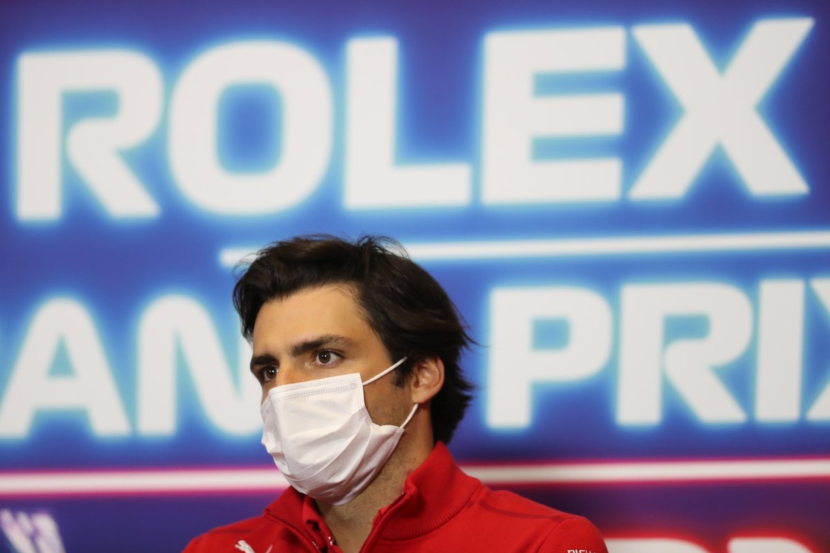 Carlos Sainz Jr., Ferrari at the press conference