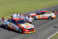 V8 Supercars Photos - Tim Cindric, Ryan Story, Max Lane (Shell Lubricants Marketing Manager), Liza Shaw, Shell Viva Energy Events Manager, Fabian Coulthard and Scott Pye