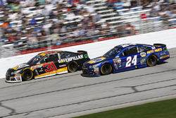 Ryan Newman, Richard Childress Racing Chevrolet, Chase Elliott, Hendrick Motorsports Chevrolet