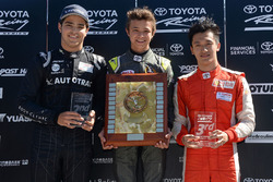 Podium: winner Lando Norris, second place Pedro Piquet, third place Guan Yu Zhou
