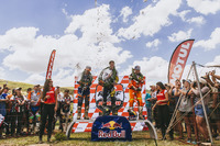 Enduro Photos - Podium: first place Graham Jarvis, second place, Alfredo Gomez, third place Scott Bouverie
