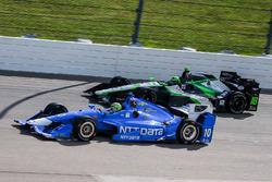 Tony Kanaan, Chip Ganassi Racing Chevrolet, Conor Daly, Dale Coyne Racing Honda