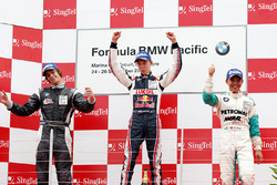 Podium: winner Daniil Kvyat, second place Richard Bradley, third place Calvin Wong