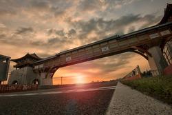 Korea International Circuit at sunset