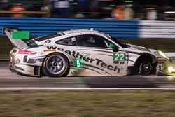 #22 Alex Job Racing Porsche 991 GT3 R: Cooper MacNeil, Leh Keen, Gunnar Jeannette missing a wheel