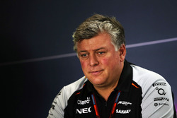 Otmar Szafnauer, Sahara Force India F1 Chief Operating Officer in the FIA Press Conference