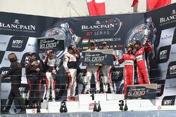 Pro Am podium: winners Christophe Bourret, Jean-Philippe Belloc, Akka ASP, second place Jean-Luc Beaubelique, Morgan Moullin Traffort, AKKA ASP, third place Michael Broniszewski, Giacomo Piccini, Kessel Racing