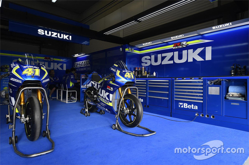 Team Suzuki MotoGP garage