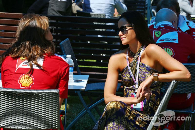 Minttu Virtanen, girlfriend of Kimi Raikkonen, Ferrari