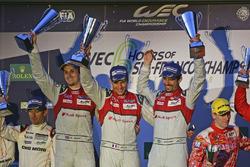 #8 Audi Sport Team Joest Audi R18 e-tron quattro: Lucas di Grassi, Loic Duval, Oliver Jarvis race winners