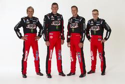 Warren Luff, Garth Tander, James Courtney, Jack Perkins, Holden Racing Team