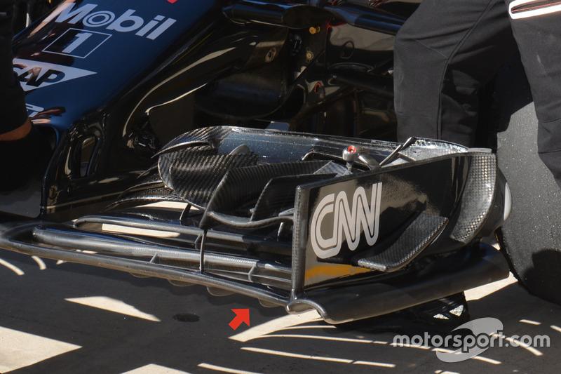 McLaren MP4-31: Frontflügel