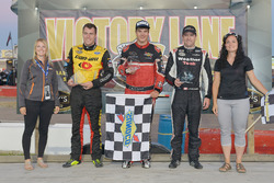 Podium: Race winner Cayden Lapcevich, second place Louis-Philippe Dumoulin, third place Alex Labbé