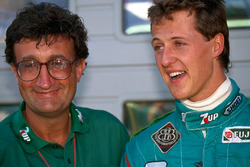 Michael Schumacher with Eddie Jordan