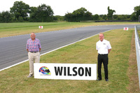 BTCC Photos - Keith Wilson and Jonathan Palmer in front of the newly renamed Wilson Corner for the late Justin Wilson