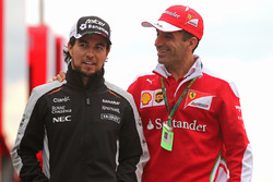 Sergio Perez, Sahara Force India and Marc Gene, Scuderia Ferrari